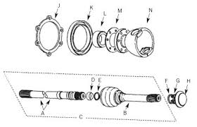 Drive Shafts NON ABS From JA032851
